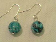 Ocean jade earrings
